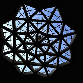 Pattern by Rahul Trivedi - Buildings & Architecture Other Interior ( pattern, blue, inside, dome, from )