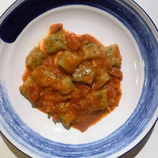 Easy and Simple Gnocchi in a Chorizo Parmesan and Tomato Sauce.