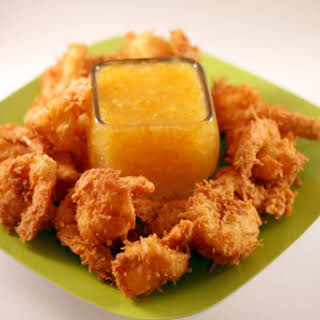Coconut Shrimp with Orange Ginger Marmalade Sauce.