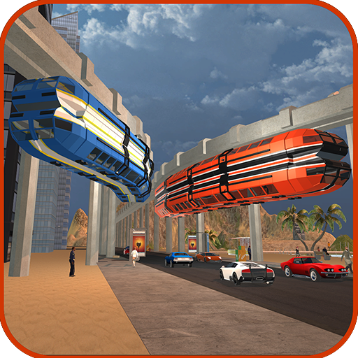 Elevated Train Roller Coaster Ride
