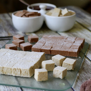 Delicious Homemade Vanilla and Chocolate Marshmallows (Gluten-Free, Dye Free)