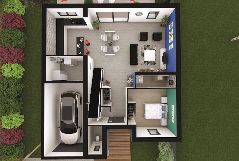 Vente Terrain + Maison - Terrain : 320m² - Maison : 115m² à Pessac (33600)