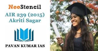 IAS Topper's Strategy: Akriti Sagar (AIR 239)