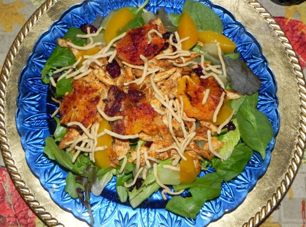 I made my husband a shredded blackened chicken dish with his toppings. He doesn't...