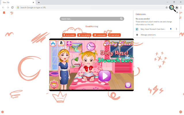 Baby Hazel Stomach Care Game New Tab