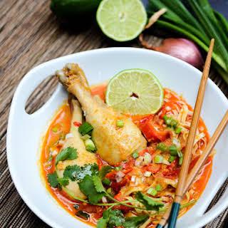 Easy Thai Coconut Curry Noodles (Khao Soi).