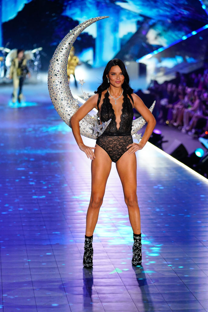 Adriana Lima walks the runway at 2018 Victoria's Secret Fashion on November 8 in New York City.