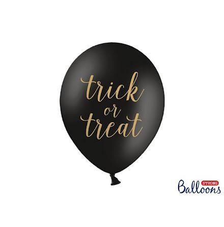 Ballonger 6-pack - Trick or treat, svart