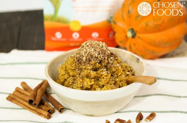 Pumpkin Pie Breakfast Quinoa With Pecan Streusel Recipe