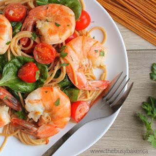 Easy Healthy Shrimp Scampi.