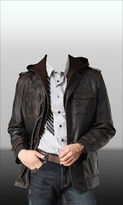 Men Leather Jacket Photo Suit screenshot 3