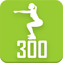 300 Squats workout Be Stronger. Strong legs icon