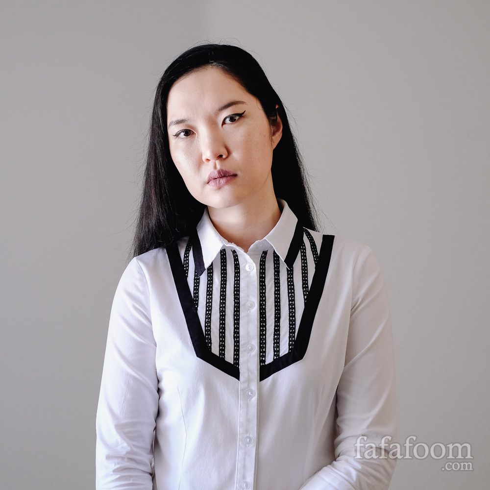 Result: Lace Ribbon Trim Bib Shirt Refashion - DIY Fashion Garments | fafafoom.com