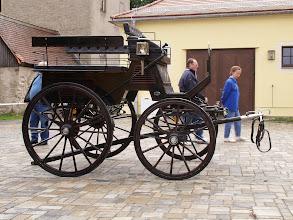 Photo: Fuhrwerk zur Hengstparade in Moritzbur