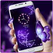 Butterfly gleam purple theme