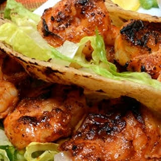 Grilled Shrimp Tacos With a Zesty Cream Sauce.