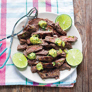 Marinated Skirt Steak with Cilantro-Lime Ghee.