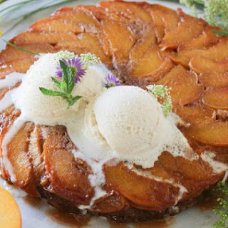 Cinnamon Peach Upside Down Cake