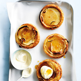 Apple And Custard Tarts.