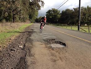 Photo: Cyclist Avoids Near Disaster