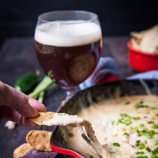 Three Cheese Jalapeno Skillet Beer Cheese Dip.