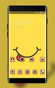 Yellow Smile Theme: Be Happy Wallpaper - náhled