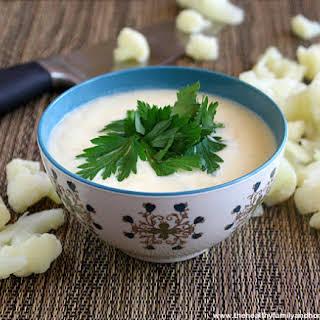 Healthy Cauliflower Alfredo Sauce (Vegan, Gluten-Free, Dairy-Free).