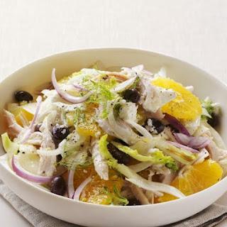 Chicken, Sliced Onion and Citrus Salad
