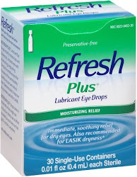 Refresh Plus Lubricant Eye Drops - Moisturizing Relief, 30 Single Use Containers