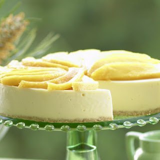 Mango and White Chocolate Cheesecake