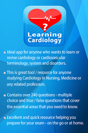 Learning Cardiology Quiz screenshot for Android