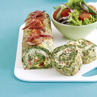 Spinach and Cream Cheese Roulade.