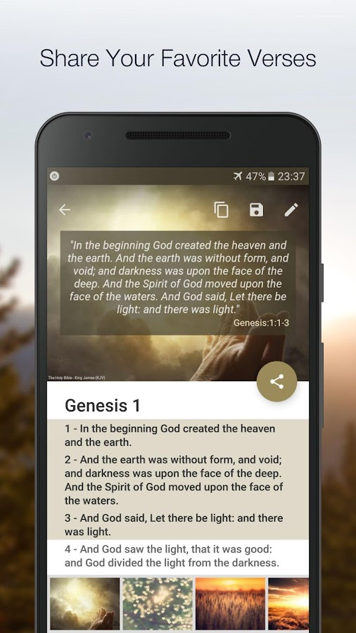 King James Bible (KJV)- screenshot