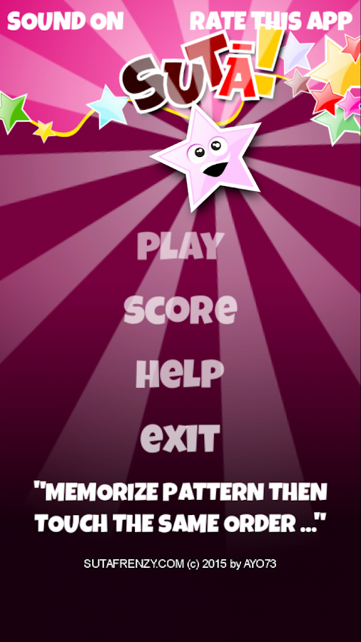Memory game : SutaFrenzy- screenshot