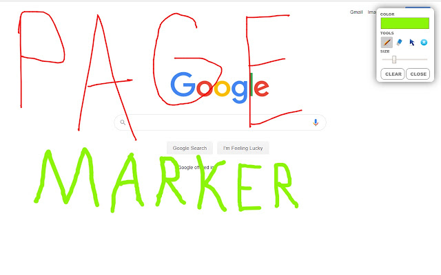 Page Marker - Paint on Web