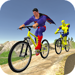 Offroad Superhero Cycle Racing Icon