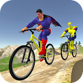 Offroad Superhero Cycle Racing
