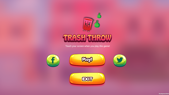 Touch game - Trash Throw - náhled