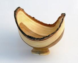 "Photo: Tim Aley - Natural-Edge Bowl - 5"" x 4.5"" - Apricot"