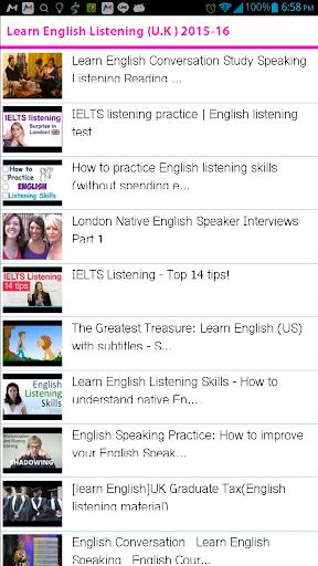 Learn English Listening UK