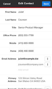 SugarCRM Mobile - screenshot thumbnail