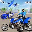 US Real Police Plane Limo Car Transporter Driving icon