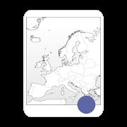 Blank Map, Europe