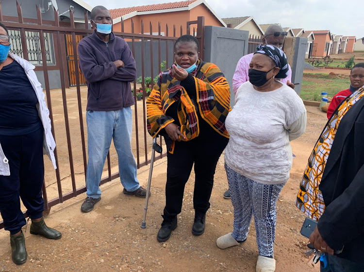 Cogta portfolio committee chair Faith Muthambi met residents of Nellmapius Ext 22 who have not had electricity since 2016 when they moved into the development.