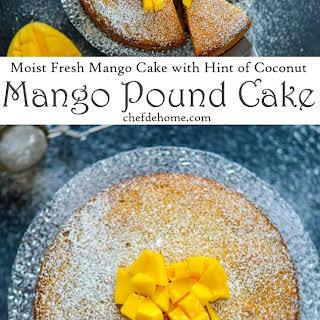 Moist Mango Pound Cake.