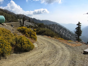 Photo: The road beginning down from Baldy Notch. It winds 3.3 miles to Manker Flats.