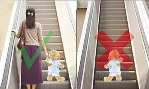 7 quy tắc an toàn khi đi thang cuốn cùng bé