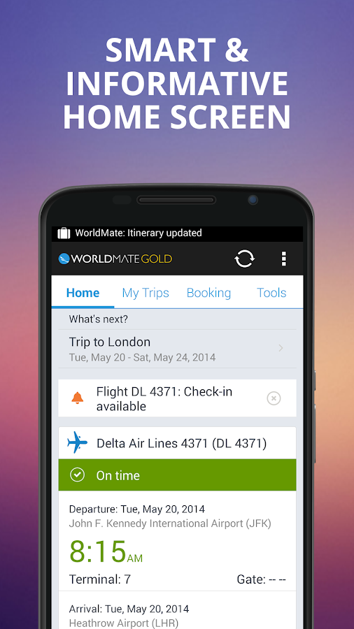 WorldMate- screenshot
