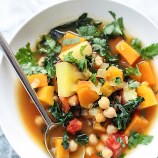 Moroccan Soup with Kale and Chickpeas.