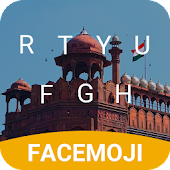 Red Fort Emoji Keyboard Theme for Independence day